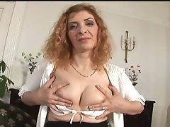 Beautiful Busty Mature Got Facial Cum