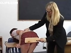 Schoolgirl Receives Harsh Discipline From Mistress