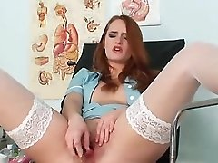 Up Close Twat With Stockings Redhead Denisa