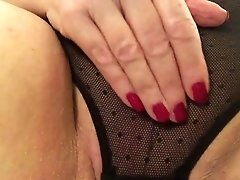 Sexy Granny Black Undies Masturbating Spanking Fat Snatch To Spunk