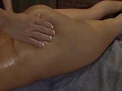 Oiled Figure Rubdown  And Playing Honeypot