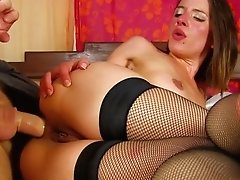 French Whore Gets Rectal And Facial Cumshot