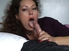 Beautiful Brown-haired Mature Mummy Gives Handjob