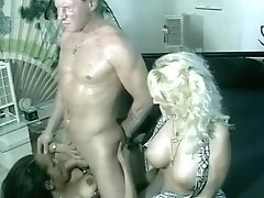 Black Chick Gets White Cum All Over Her
