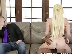 Best Pornstar Nikki Delano In Fabulous Interracial, Blonde Sex Scene