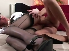 Stockings Wearing British MILF Pounded