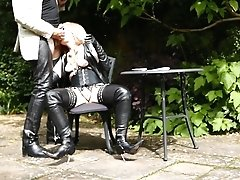 Leather Milf In Boots At The Blowjob Cafe