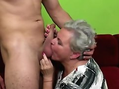 Old Granny Gobbled And Fucked By Youthful Boy
