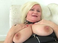 English Granny Lacey Starr Using Her Magic Wand Electro-hitachi