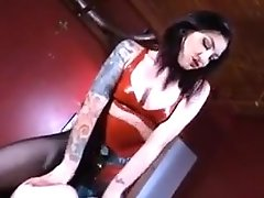 Pegged Hot Mistress With Big Black Cock
