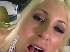Blonde Euro Stunner Puma Inhales Boner For Jizz!