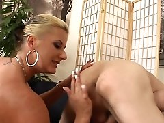 Blonde Milks Dick With Her Hot Lips