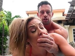 Incredible Sex In The Pool With Milf Kate Linn