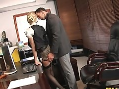 Fhuta  Caught With Finger In Pussy She Gets Fucked By The Boss