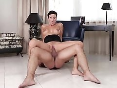 Brunette Gabrielle Gucci With Giant Tits Is A Sex Pro That Is Ready To Enjoy Dude's Worm In Her Fuck Box All Day Long