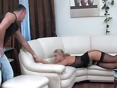 Hottest Homemade Movie With Blonde, Stockings Scenes