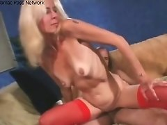 Lovemaking With Mature In Crimson Nylons