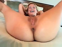 Lesbian Slutty Milf Strips And Stretches Her Tight Ass Around A Thick Cock