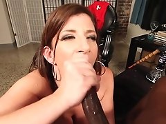 Sara Jay Smokes A Hookah And Big Black Cock