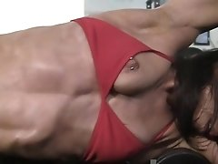 Mature Muscular Valerie In The Gym