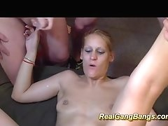 Skinny Teenager In Real Group Sex Orgy