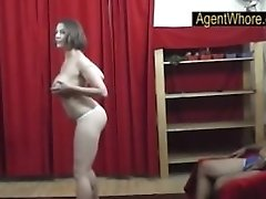 Huge-titted Mummy Dances And Does Striptease Flash