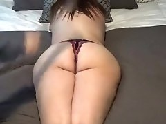 Submissive Slut Wife Spanked And Stuffed With Panties Until She Squirts