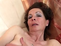 Slender Mature Mom With Very Greedy Old Cunt