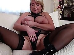 Mature Mom Clad Like A Superslut With Big Breasts