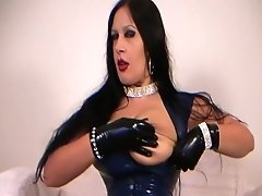 Busty Glamour Lady With Black Gloves - Blowjob Handjob - Fuck My Nasty Mouth - Cum On My Tits