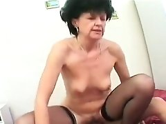 Mom Excites Son's Big Cock In The Bathroom Then Finishes